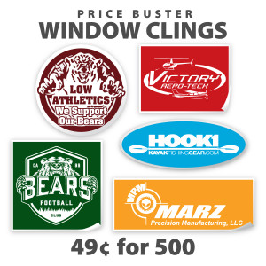 Custom Pricebuster Window Clings